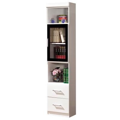 時尚屋 肯尼1.4尺玻璃門雙抽書櫃 寬41.2cm-可選色