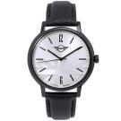MINI Swiss Watches Cooper英倫風時尚手錶-銀X黑/42mm