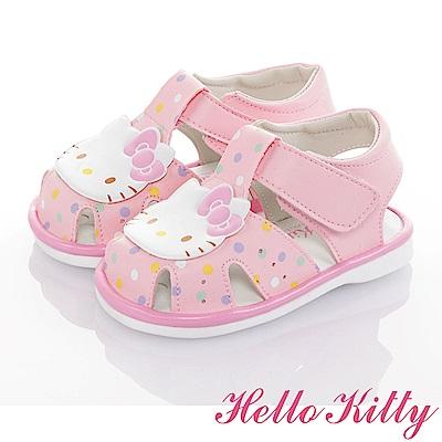 HelloKitty 輕量減壓吸震嗶嗶學步涼鞋童鞋-粉