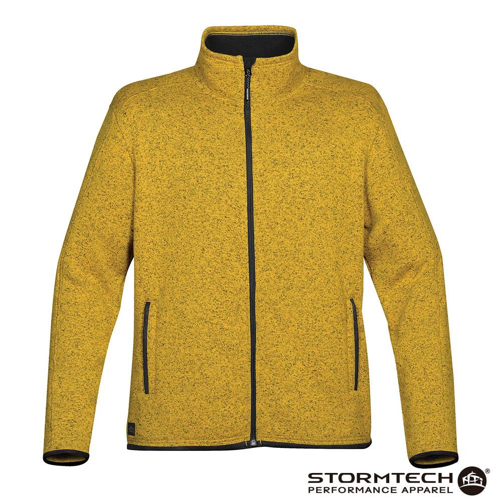 【加拿大STORMTECH】PMJ-1 立領針織刷毛保暖外套-男-芥末黃