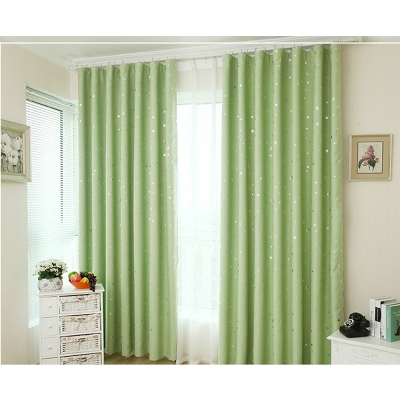 布安於室-星晨單層雙用窗簾-綠色-寬130x高180cm