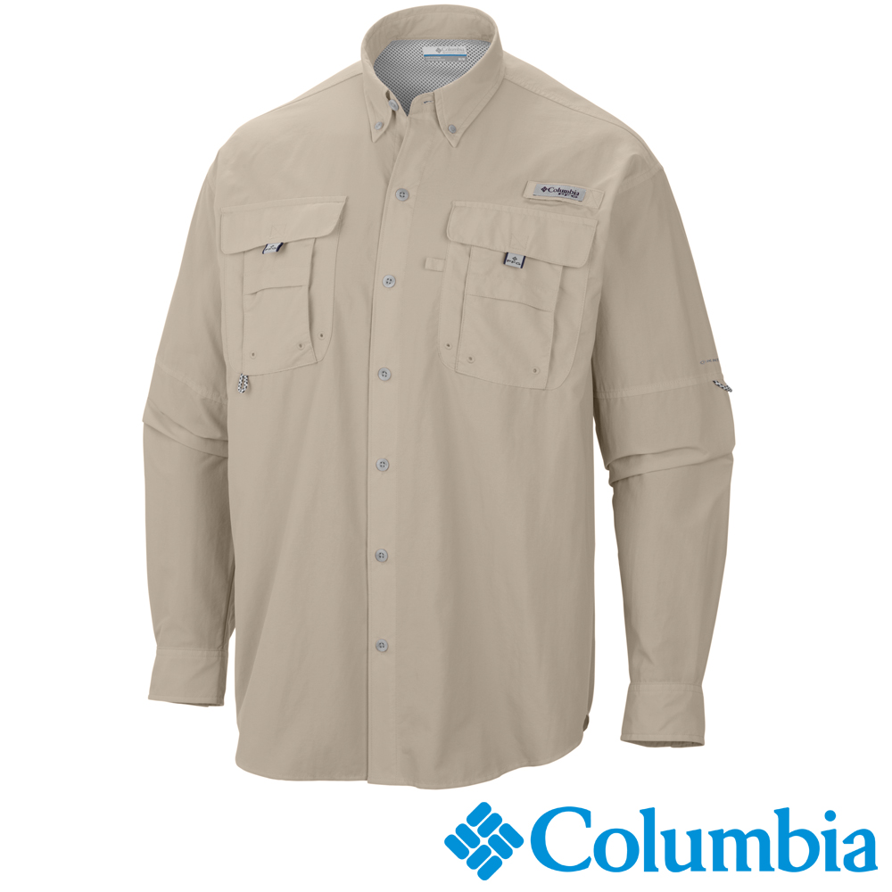 【Columbia哥倫比亞】男-Tactel防曬30襯衫-卡其 UFM70480KI