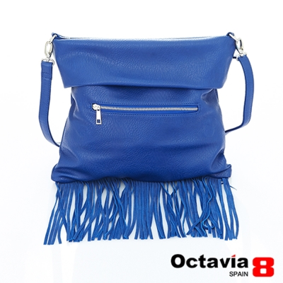 Octavia 8 -  造型三用波西米亞長流蘇包 - 甩藍