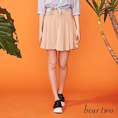 beartwo 經典打摺短版褲裙(二色)