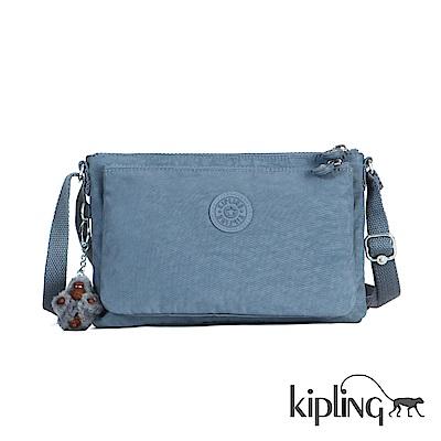 Kipling 斜背包 紫羅蘭灰素面-小