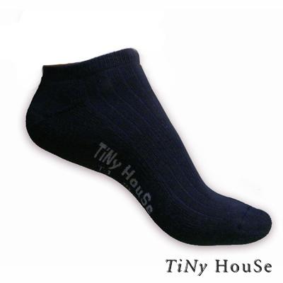 TiNyHouSe 舒適襪 厚底船襪 黑色1雙入