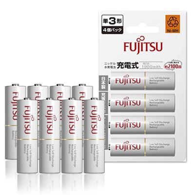 Fujitsu 低自放3號1900mAh 鎳氫充電電池(8顆入)