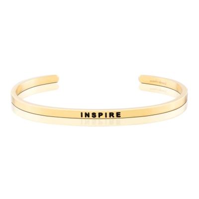 MANTRABAND 美國悄悄話手環 INSPIRE 擁有啟發人心的力量 金色