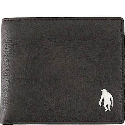 OBHOLIC 咖啡色牛皮短夾皮夾錢包