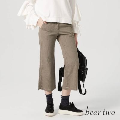 beartwo 寬喇叭造型正裝七分褲(二色)
