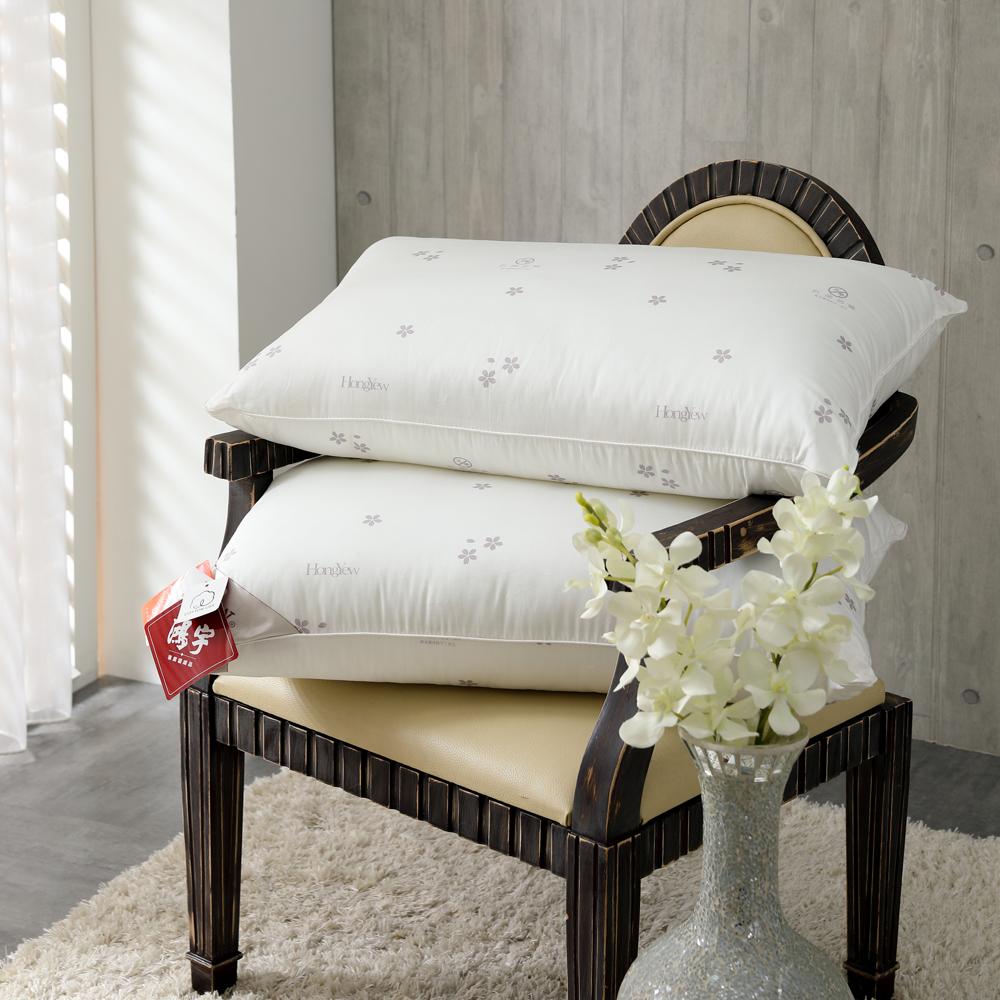 鴻宇HongYew 美國棉授權 防蹣抗菌多孔纖維枕1入