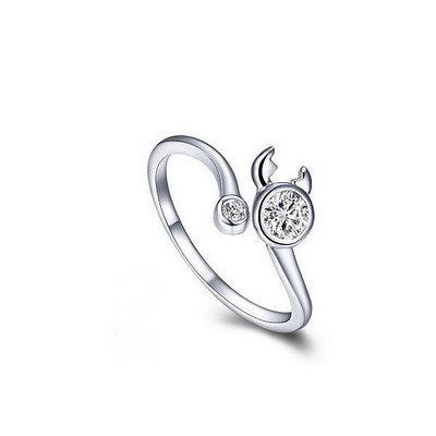 ACUBY 銀製星座守護開口戒指/巨蟹