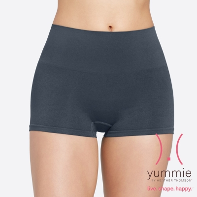 塑褲-一體成型無縫短版平口褲-漸變藍-Sam-Yummie-Life
