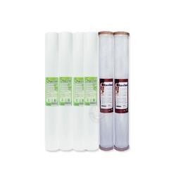 EssenPure水蘋果 高品質20英吋5微米PP濾心+CTO濾心(6支組)
