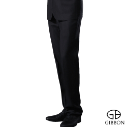 GIBBON 精簡條紋羊毛平口西裝褲‧灰直條32~40