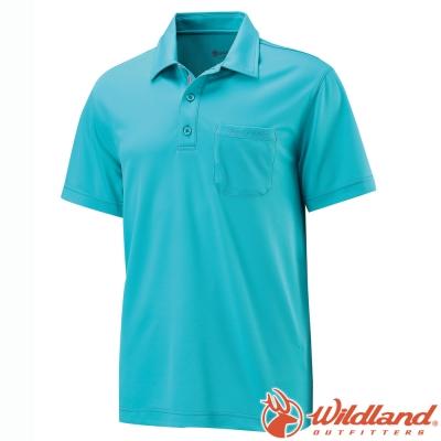 Wildland 荒野 W1622-65湖水藍 男 疏水纖維排汗衣Polo衫