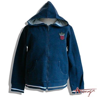 Anny1989線條運動風口袋休閒外套*9467藍