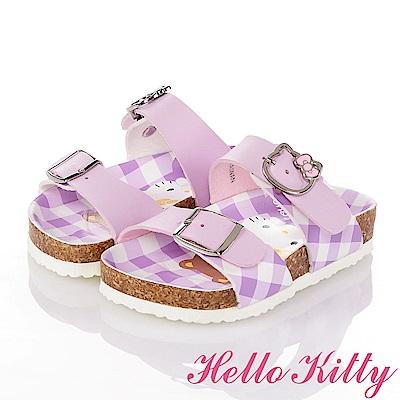 HelloKitty 好朋友系列 舒適減壓吸震防滑休閒拖鞋童鞋-紫