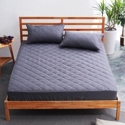 美夢元素 繽紛馬卡龍保潔床墊-單人〈鐵灰〉