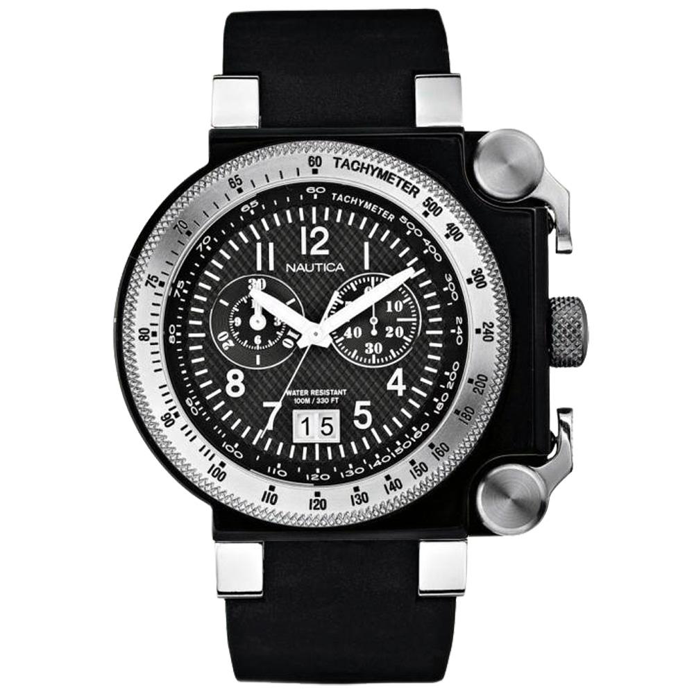【NAUTICA】豪獷鈦金屬運動套錶
