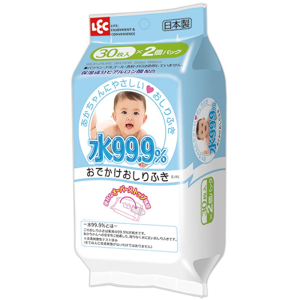 日本LEC -純水99.9%日本製濕紙巾-一般型隨身包2入