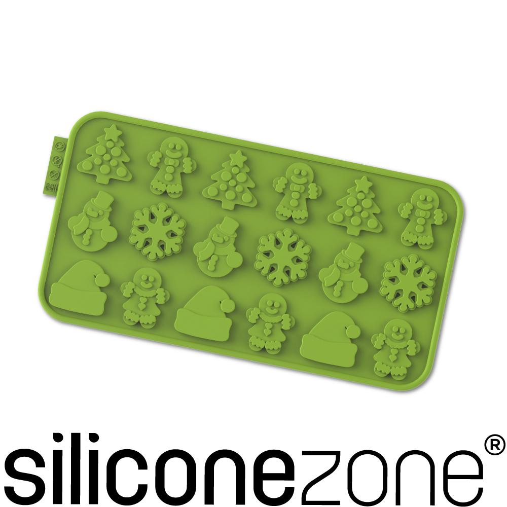 Siliconezone 施理康耐熱矽膠聖誕節巧克力模-綠色
