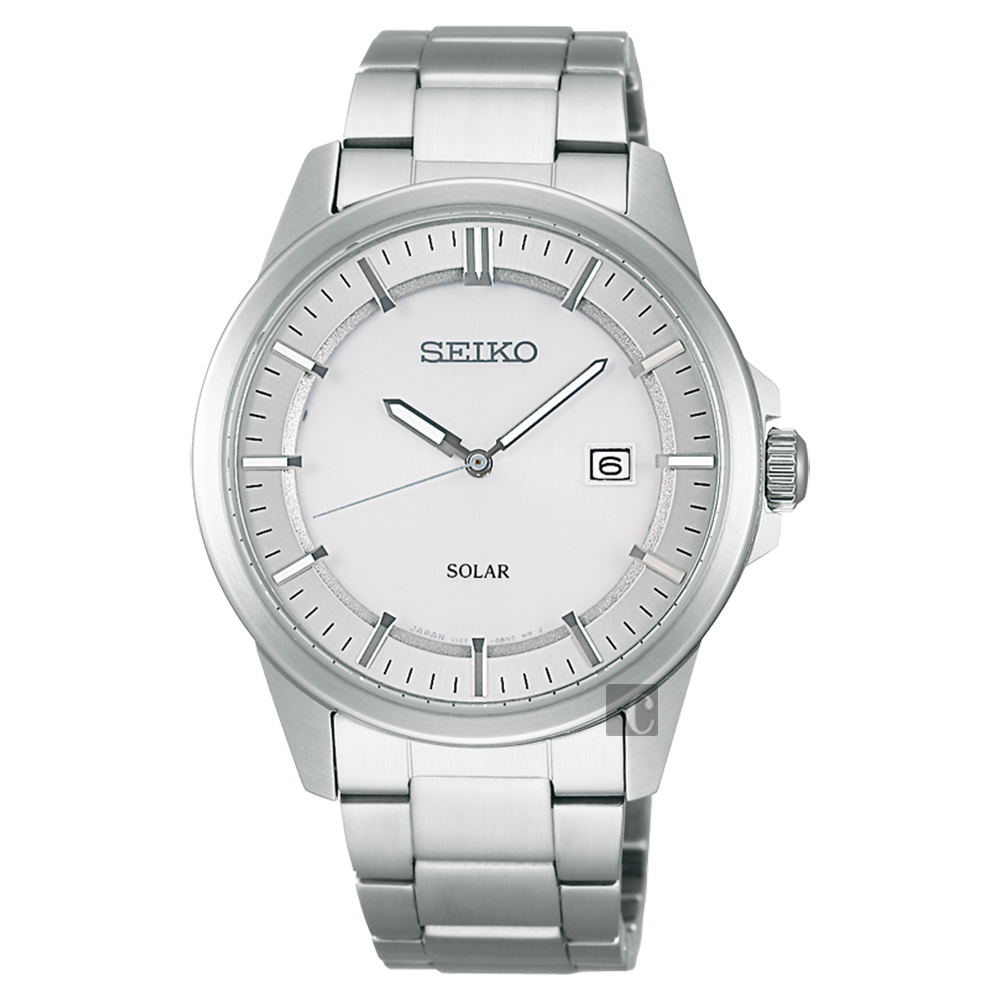SEIKO SPIRIT 太陽能日系時尚腕錶(SBPN085)-銀/40mm