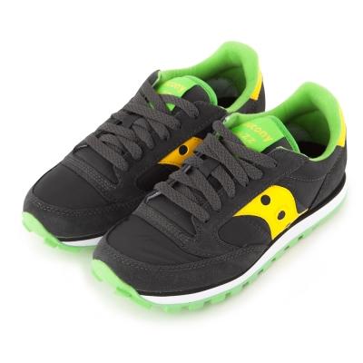 (女) 美國 SAUCONY 經典時尚休閒輕量慢跑球鞋-灰黃