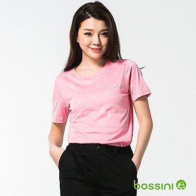 bossini女裝-圓領短袖上衣19嫩粉