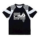 FILA KIDS 男童吸濕排汗上衣-黑 1TES-4433-BK