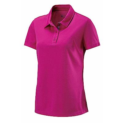 【Wildland 荒野】女疏水纖維POLO排汗衣紫紅