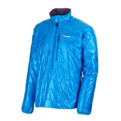 【Berghaus 貝豪斯】男款保暖纖維防潑水上衣H51MC0-藍