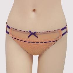 瑪登瑪朵 浪漫細緻蕾絲  低腰三角萊克內褲(珊瑚橘)