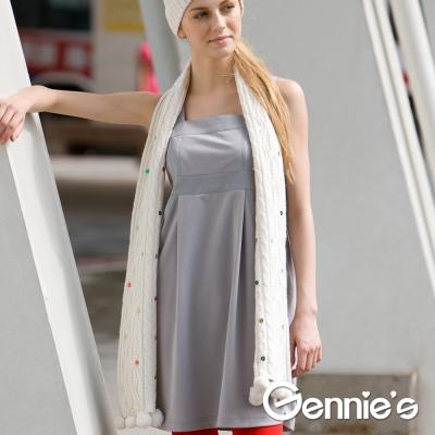 【Gennie's奇妮】簡約風格孕婦背心洋裝(C2Y23)