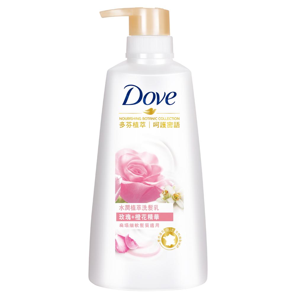DOVE 多芬 水潤植萃洗髮乳 玫瑰精華 500ml