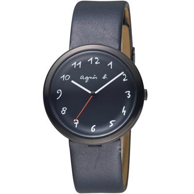 agnes b.法式藝術風情時尚腕錶(VJ21-KK50C)-36mm