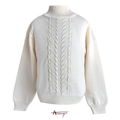 Annys氣質編織穿線設計毛衣上衣*5636米白