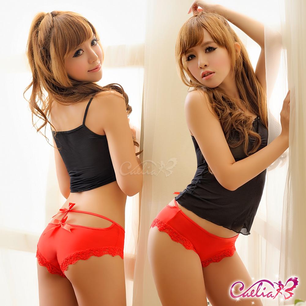 內褲 俏麗後臀內褲(紅) Caelia