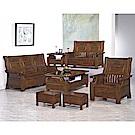 H&D 樟木實木板椅組 (寬191X深72X高102cm)