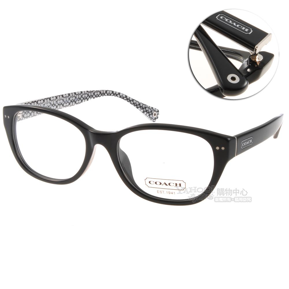 COACH眼鏡 經典版型/黑-白色#CO6029F 5002