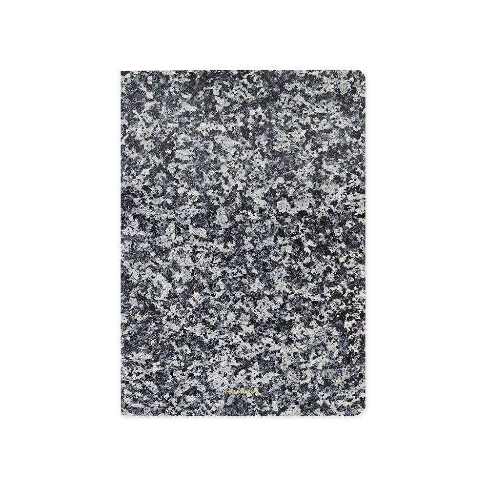 FUNZAKKA 大理石紋空白筆記本-黑色