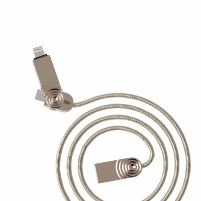 WK香港潮牌 3合1 iOS/Micro USB/TypeC充電線/WDC015