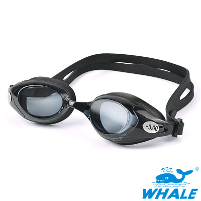 TRANSTAR 度數泳鏡WHALE系-防霧抗UV塑鋼鏡片(600-800度)