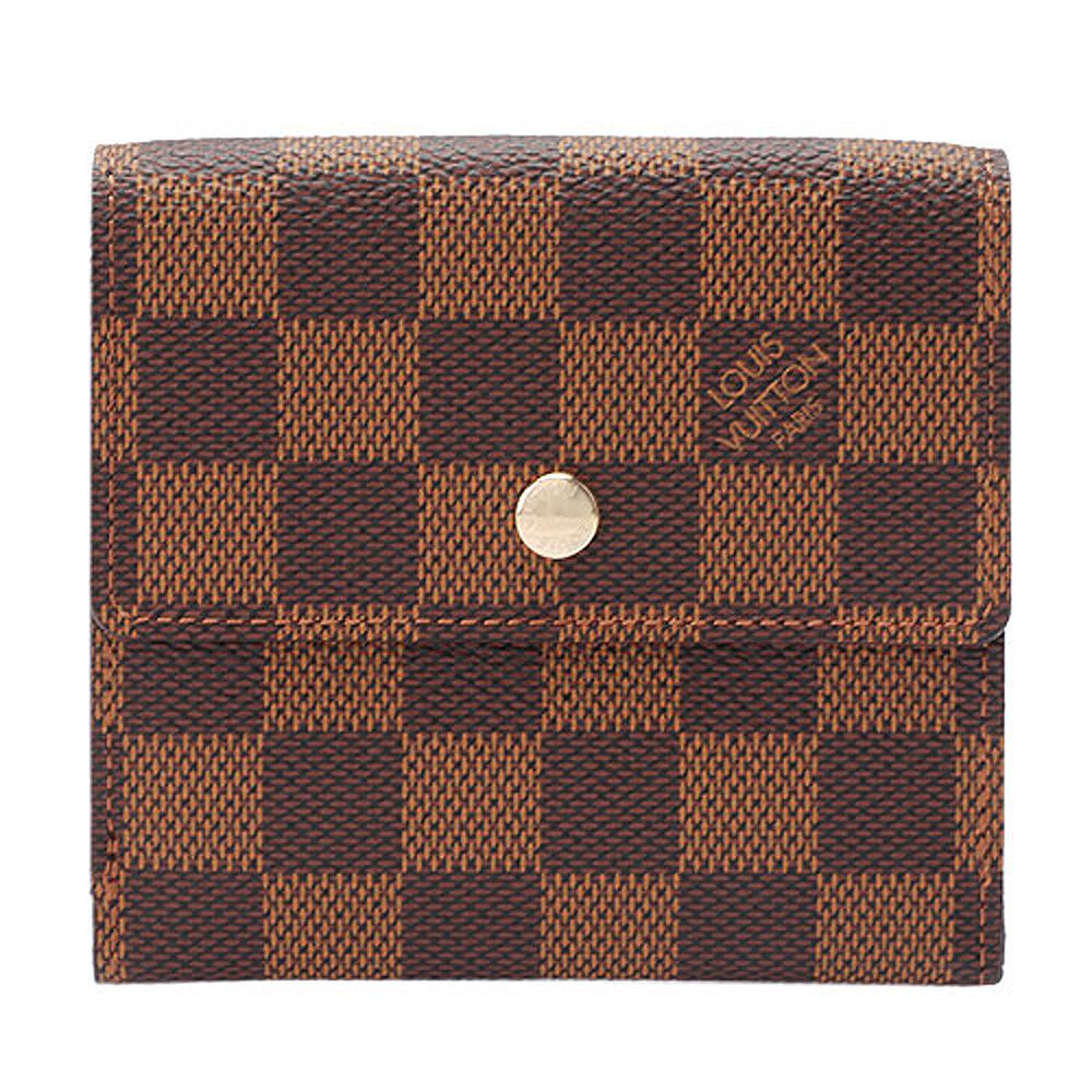 LV N61654 經典Damier棋盤格紋雙面多功能短夾