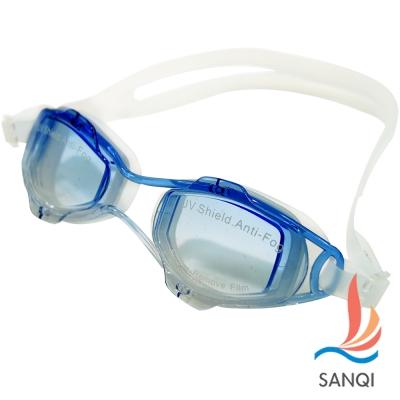 SANQI三奇 夏日必備抗UV防霧休閒泳鏡(2918RS-藍F)