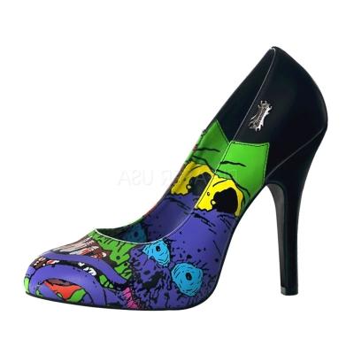 DEMONIA藝術塗鴉高跟鞋-藍/黑