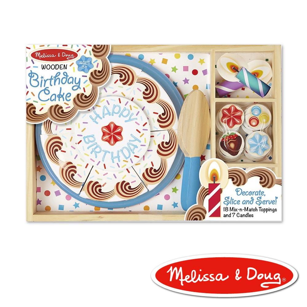 美國瑪莉莎 Melissa & Doug 玩食趣 - 生日蛋糕玩具組 , 藍底