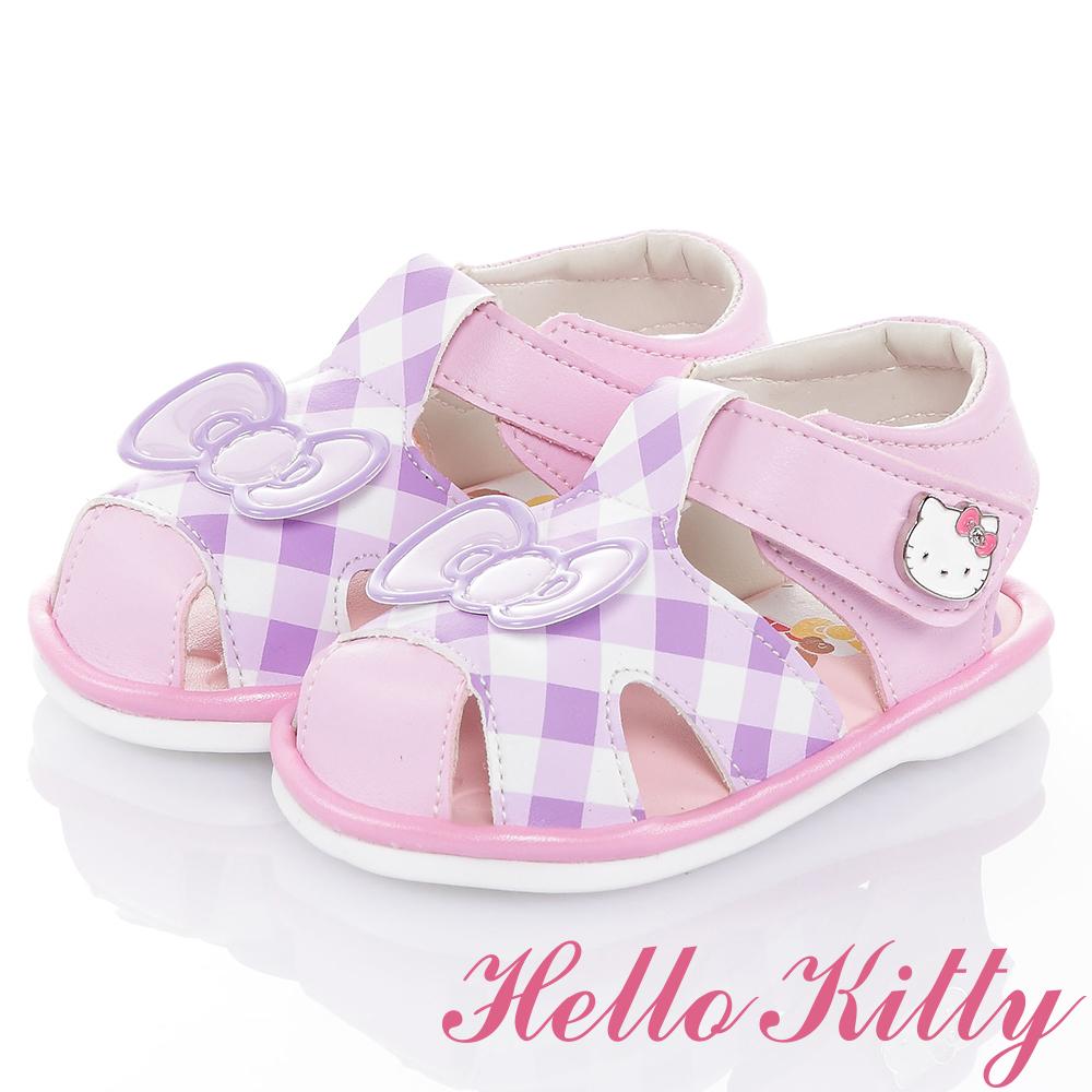 HelloKitty好朋友系列 輕量減壓吸震嗶嗶學步涼鞋童鞋-紫