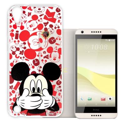 迪士尼 HTC Desire 650/530/626 透明軟性手機殼(摀嘴米奇)