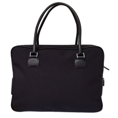 PORSCHE DESIG 時尚潮 雙把公事包-黑色